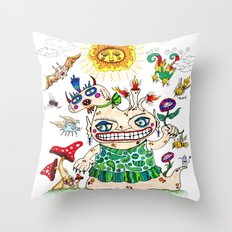She-Beast and Friends Throw Pillow