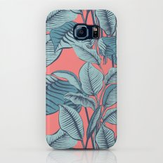 Pink Exotic Tropical Banana Palm Leaf Print Slim Case Galaxy S7