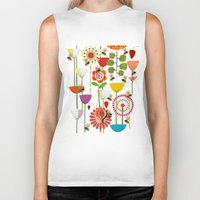 bees Biker Tanks featuring WHERE THE BEES FLY by Chicca Besso