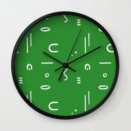 Peppy (moss green) Wall Clock