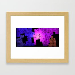 Mosaic Destruction Framed Art Print