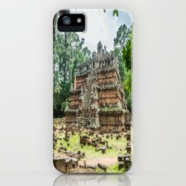 Phimeanakas Temple of Angkor Thom, Siem Reap, Cambodia iPhone Case