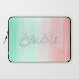 Susie - Mint and Coral Ombre Laptop Sleeve