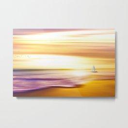 The Great Salt Sea Golden Landscape Metal Print