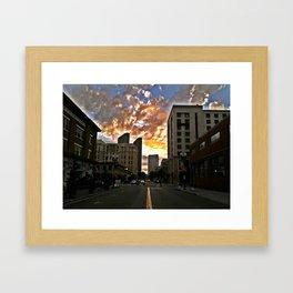 Fire in the Sky, SD, 2011 Framed Art Print