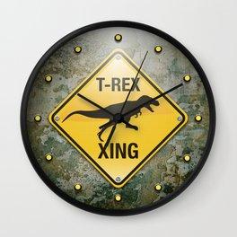 T-Rex Crossing Wall Clock