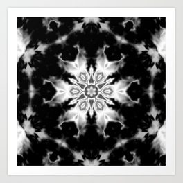 Black and White Kaleidoscope Art Print