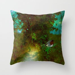Robin's Nest. Throw Pillow