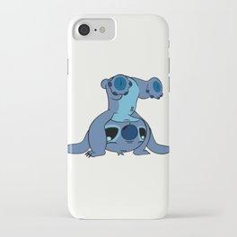 Stitch upside down iPhone Case