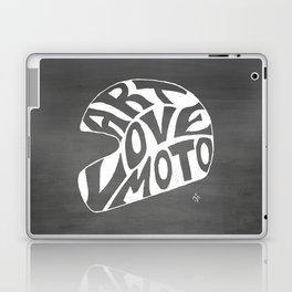Art Love Moto Helmet Laptop & iPad Skin