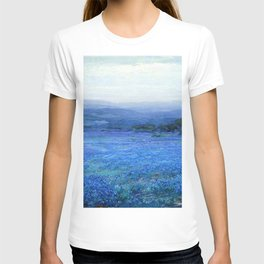Bluebonnet Panoramic Landscape in Twilight painting by Robert Julian Onderdonk T-shirt