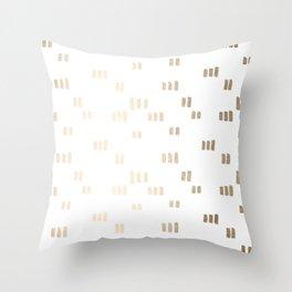 Golden Guards Throw Pillow