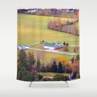 tennessee Shower Curtains featuring Tennessee Country by Mary Timman