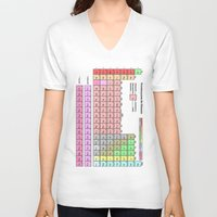 periodic table V-neck T-shirts featuring Periodic Table Of  The Elements by GrafXthings