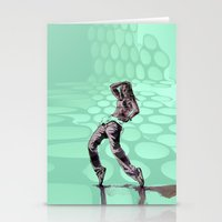 hiphop Stationery Cards featuring B GIRL - vanguard style by ARTito