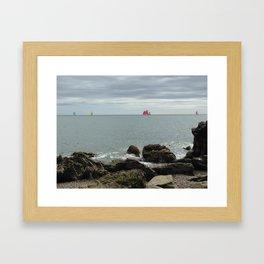 Sailboat Race Framed Art Print