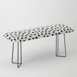 Preppy brushstroke free polka dots black and white spots dots dalmation animal spots design minimal Bench
