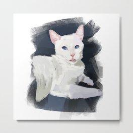 Shelter Cat Metal Print
