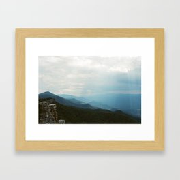 North Fork Mountain; West Virginia Framed Art Print