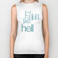 hell Biker Tanks featuring hell by Josh LaFayette