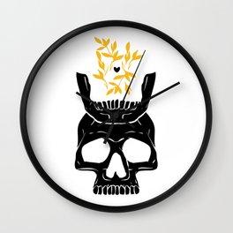 King of No Body - Gilded Knight Wall Clock