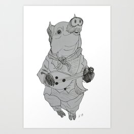 Playing with the Ham Art Print