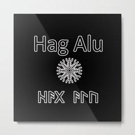 Helm of Awe protective spell Metal Print