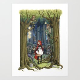 Fairytale crossover Art Print