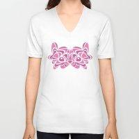 pomeranian V-neck T-shirts featuring Pomeranian by anglia