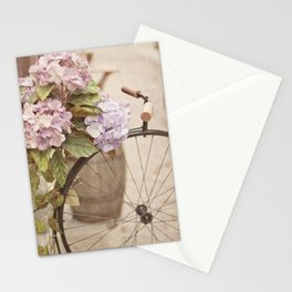 Bike with flowers Stationery Cards