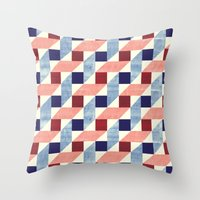 bauhaus Throw Pillows featuring Lightly Bauhaus by Kata
