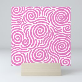 Ripple Effect Pattern Pink Mini Art Print