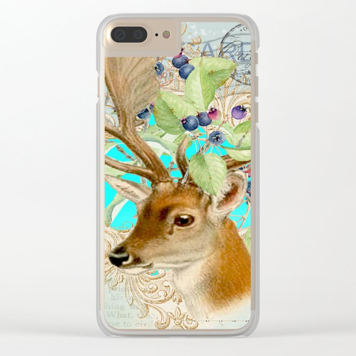 Winter animal #11 Clear iPhone Case