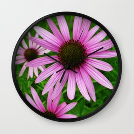 Pink Coneflowers Wall Clock