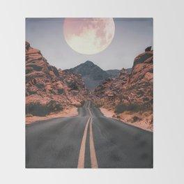 Mooned Throw Blanket
