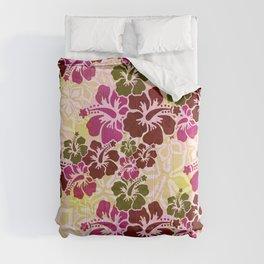 Hawaiian Hibiscus Pattern Comforters