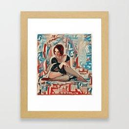 Across My Leg Framed Art Print
