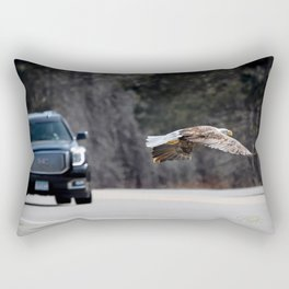March Eagle over the highway Rectangular Pillow