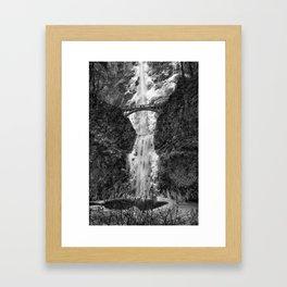 Winter Waterfalls Framed Art Print