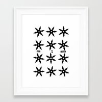 ninja Framed Art Prints featuring ninja by ḋαɾќṡhαḋøώ .