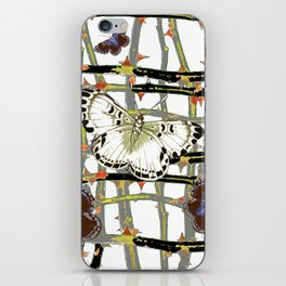 MOTHS ABSTRACT ON BLACKTHORNE LATTICE iPhone Skin