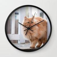 garfield Wall Clocks featuring Garfield by maisie ong