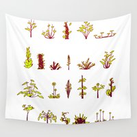 plants Wall Tapestries featuring Plants plants plants by Pol Clarissou