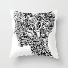 Portrait of Autumn Throw Pillow