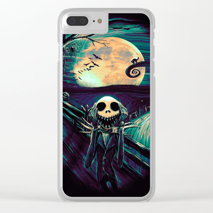 The Scream Before Christmas Clear iPhone Case