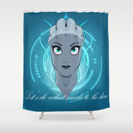 Liara T'soni - The Queen Bee of Bioware (Revised) Shower Curtain