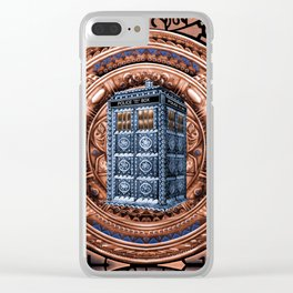 Aztec Tardis Doctor Who Full Color Pencils Sketch Clear iPhone Case