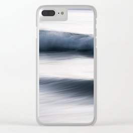The Uniqueness of Waves XIII Clear iPhone Case