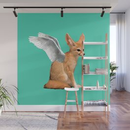 Winged Fennec Fox Wall Mural