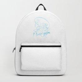 I Love Gym Gymnastics Gymnast Athletic Sports Gift Backpack